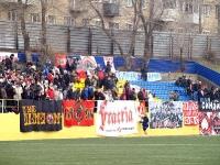 На матч прибыло много фанатов Спартака