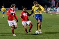 С мячом Дмитрий Александрович Смирнов, его догоняют Малик Фатхи и Роман Шишикин