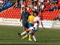 Юрий Роденков наносит удар по воротам соперника