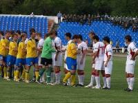 Приветсвие команд перед началом игры