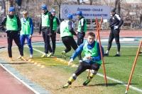 Вместе с основой тренировоалось несколько молодых футболистов из дубля