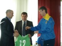 Вратарь команды Андрей Фисенко